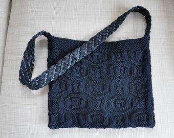 Hand Knit Shoulder Bag