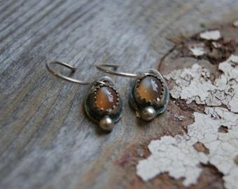 Moonstone Earrings- Vintage Western Inspired Dangle Earrings