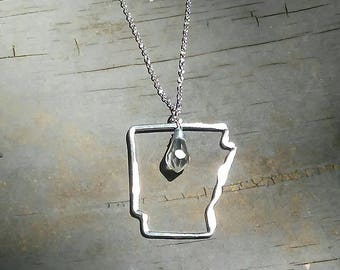 Arkansas Outline Necklace