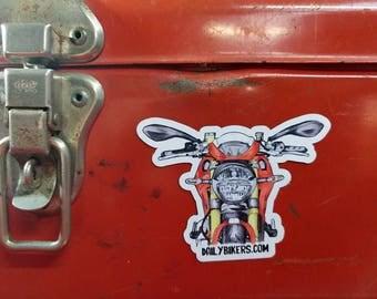 Motorcycle Fridge Magnet | High Quality Vinyl Motorcycle Magnet | Cafe Racer illustration