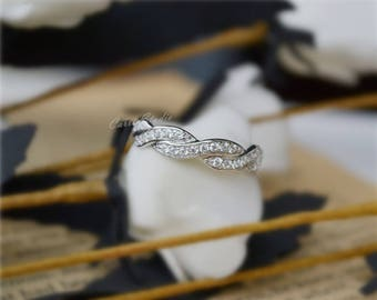 Sterling Silver Unique Ring/Band  Matching Band Wedding Band Anniversary Ring