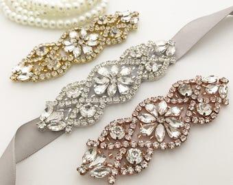 Silver Wedding Sash, wedding belt, bridal sash, bridal belt, silver Bridesmaid Sash, silver flower girl sash, flower-girl belt, bridesmaid