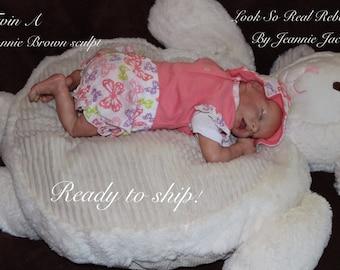 Reborn baby, Twin A , Bonnie Brown sculpt, COA , ready to ship
