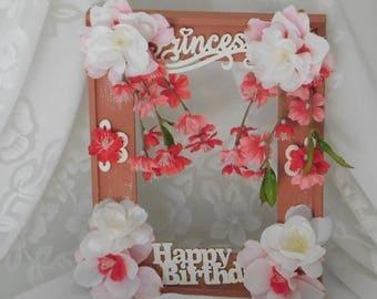 Frame,  Little Girl's Frame, Pink Frame, Decor, Home and Living, Happy Birthday Frame, Room Decor, Little Girl's Bedroom, Birthday Gift