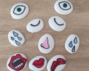 Emotions feelings stones