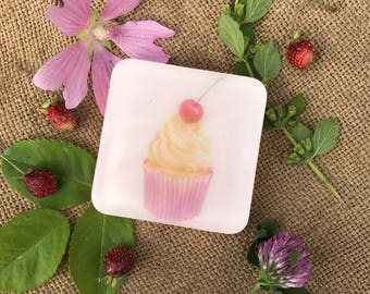 Cupcake sweet Cute Shabby Chic Handmade Soap