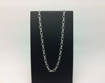 Chain is 40 cm mesh alternating 3.1 mm sterling silver 925