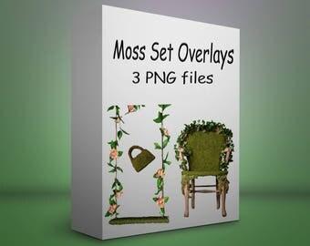 Moss set of 3 PNG files