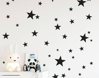 Star wall decals, Nursery wall decals, Confetti star decals, Star wall stickers, Baby room decor, Star stickers for walls, Removable stars