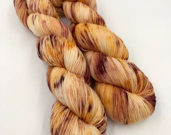 Hand Dyed Yarn - 4 ply (Fingering) - Passionfruit