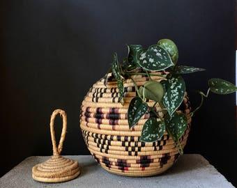 Vintage Snake Charmer Basket AS IS