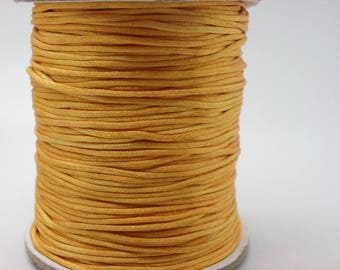 orange 1 spool of 25 m cotton wax cord 1 mm with 25 meters