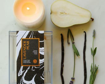 Lavender Pear Scented Soy Jar Candle