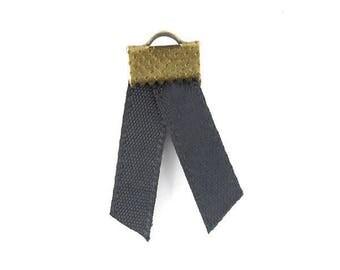 x2m (A 42) 5mm black satin ribbon
