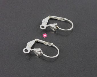 x 10 Support sleeper earrings Silver (05th)