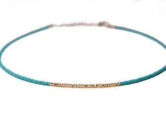 LYNNE NECKLACE* dainty beaded choker necklace
