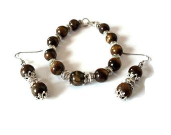 Vintage silver and Tiger's eye beads set