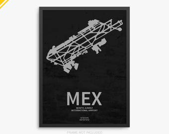 MEX Airport, Mexico City International Airport, Mexico City, MEX Airport Poster, Mexico City Airport, Mexico, Mexico City Airport Poster