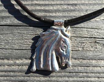 Silver Horse Head Pendant