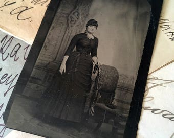 Antique Photograph, Tin Type from 1800s,
