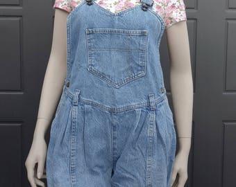 Cute  blue  denim Overalls Vintage 80's Sz Medium
