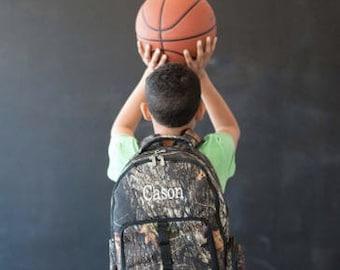 Monogrammed Camo Backpack ~ Monogrammed boys backpack ~ Back to school backpack