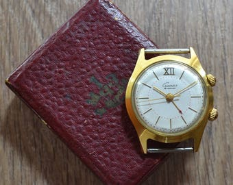 Mens Vintage ussr soviet Russian mechanical watch POLJOT SIGNAL alarm VIBRATES