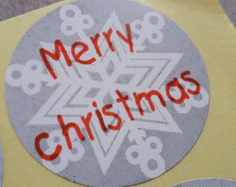 Stickers stickers, Christmas party circles, wrapping gifts, 3 cm