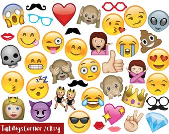 Emoji Photo Booth Props - Emoji stickers - Whatsapp emojis - Emoji photobooth props - Printable emoji photobooth props - instand download