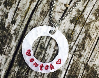 Cariad/cwtch necklace
