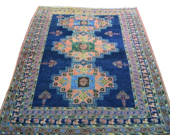 Antique Persian Afshar Geometric Rug Carpet Oriental Hand Made