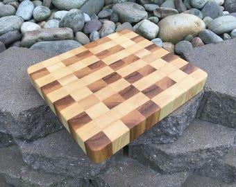 End Grain Cutting Board - Ash