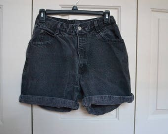 Black mom jean shorts