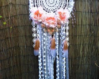 BOHEMIAN wanderlust floral wedding BOHO gypsy hippie DREAM catcher home decor wall hanging