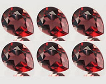 Red Garnet pear cut 25 pcs lot Natural Garnet Pear cut faceted loose gemstone for jewelry