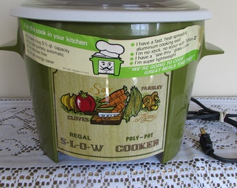Regal Cookware (As seen on TV) Ploy Pot Slow Cooker Vintage NeverUsed