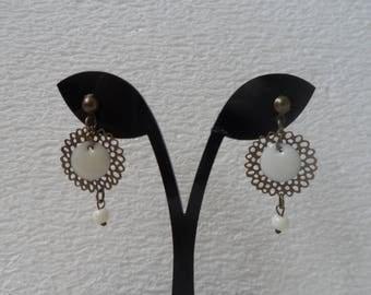 Filigree and enamel earrings handmade jewelry designer