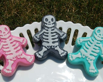 Halloween Soap - Trick or Treat - Spooky Soap - Skeleton Soap - Gingerbread Man Soap - Boo Soap - Halloween Party - Party Favors - Kids Soap