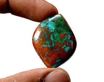 Chrysocolla 33 Cts AAA Quality Natural Gemstone Attractive Designer Free Form Shape Cabochon 25x22x6 MM R14127