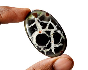Septarian 63 Cts Natural  Top Quality Gemstone Cabochon Oval Shape 42x27x5 MM R14645