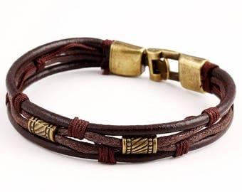 Braided Genuine Leather Men's Bracelet