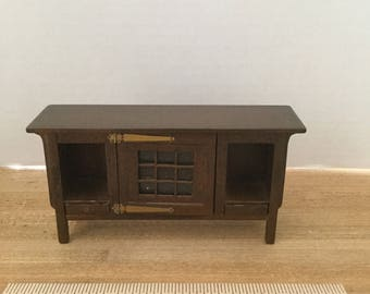 Dollhouse furniture vintage wooden Bespaq console