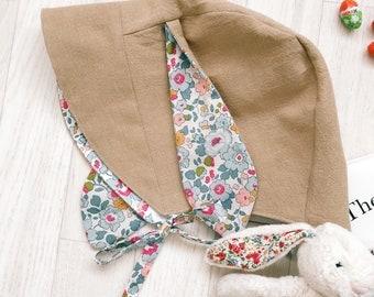 BUNNY Bonnet Handmade with Liberty Print