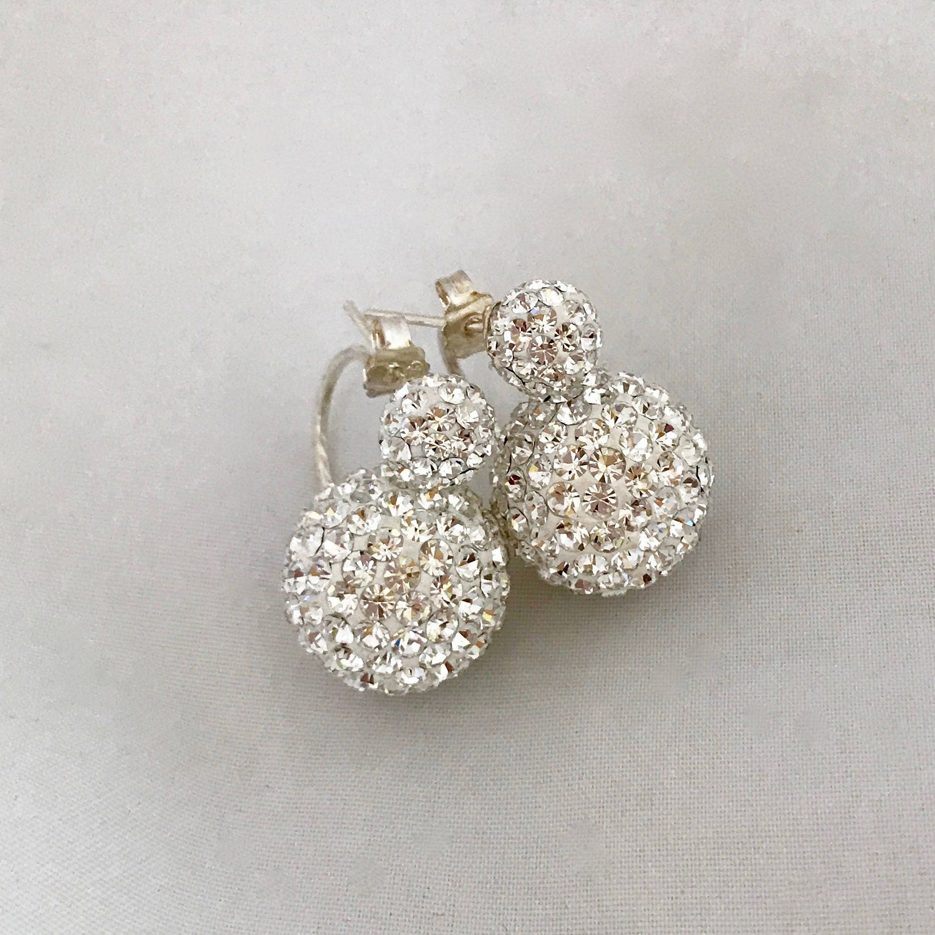 floral stud screen sparkly earrings