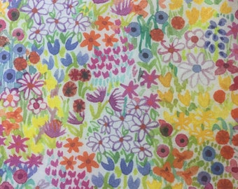 Liberty *Poppy's Meadow: bib and burp cloth set