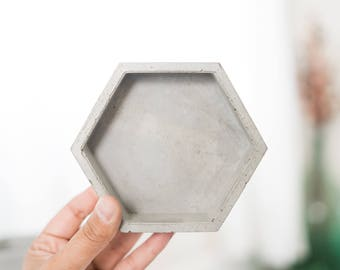 Concrete Decor | Jewelry Holder | Ring Holder | Hexagon | Minimalist | Modern