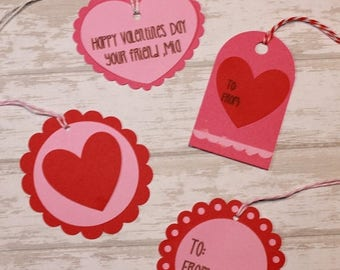 ON SALE Valentine's Day Tags