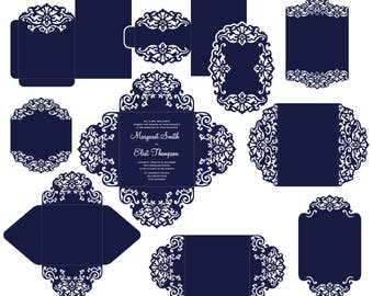 custom laser cut wedding invitation svg dxf by narisaridigitalart. Black Bedroom Furniture Sets. Home Design Ideas