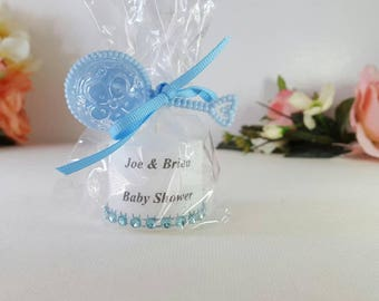 Baby Boy Votive Candle Shower Favors