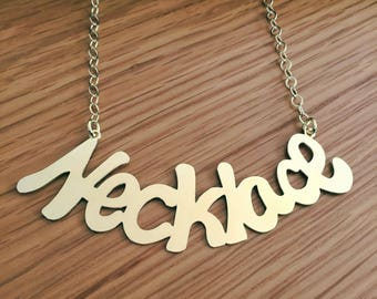 Handwriting necklace , Name Necklace , Gold Necklace , Handwritten necklace , Gift for her ,
